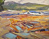 Logs on The Gatineau River c1914 By J.E.H. MacDonald