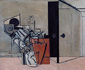 Interior with Double Bass By Louis Marcoussis