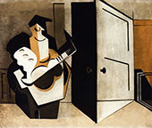Musician in an Interior By Louis Marcoussis