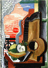 Still Life in Front of The Window By Louis Marcoussis