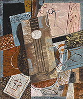 Still Life Life with Guitar By Louis Marcoussis