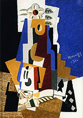 Still Life with Ace of Spades By Louis Marcoussis