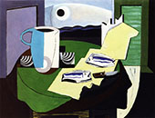 Still Life with Fish By Louis Marcoussis