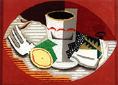 Still Life with Fork By Louis Marcoussis
