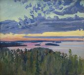 Lake at Sunset By Akseli Gallen Kallela