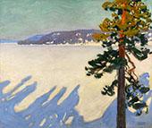 Lake Ruovesi in Winter 1916 By Akseli Gallen Kallela