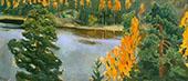 Lake view in Autumn By Akseli Gallen Kallela