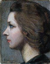 Portrait of Anna Stina Sloor By Akseli Gallen Kallela