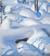 Snow Covered Rocks By Akseli Gallen Kallela