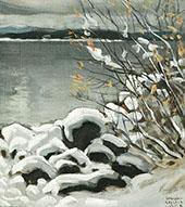 Snowy Landscape By Akseli Gallen Kallela