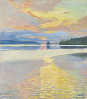 Sunset over Lake Ruovesi By Akseli Gallen Kallela