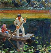 The Boat By Akseli Gallen Kallela