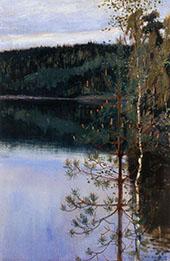 View of a Lake By Akseli Gallen Kallela