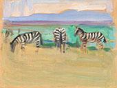 Zebras By Akseli Gallen Kallela