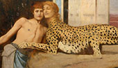 Caresses By Fernand Khnopff