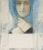 Clematis By Fernand Khnopff