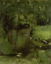 In Fosset a Stream By Fernand Khnopff