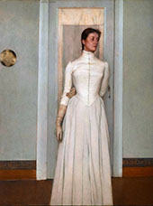 Portrait of Marguerite Khnopff 1887 By Fernand Khnopff