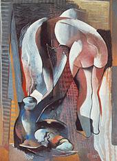 Bending Nude from Behind 1934 By Bela Kadar
