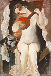 Girl with Guitar 1935 By Bela Kadar