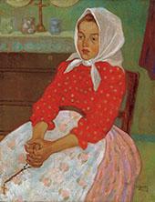Girl with Headscarf By Bela Kadar