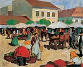 Market Square 1910 By Bela Kadar