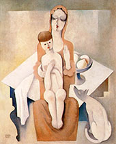 Mother with Child 1930 By Bela Kadar