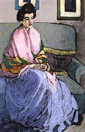 Portrait Study 1909 By Bela Kadar