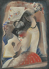 Young Woman with Child 1930 By Bela Kadar