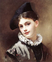 A Coquettish Smile By Gustav Jacquet