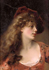 A Young Beauty By Gustav Jacquet