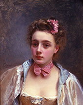 A Young Beauty also known as Dressed for The Ball By Gustav Jacquet