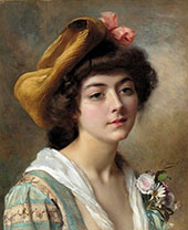 Head of a Girl By Gustav Jacquet