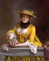 The Yellow Dress By Gustav Jacquet
