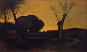 Evening at Medfield Massachusetts 1875 By George Inness