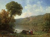 Lake Nemi 1857 By George Inness