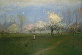 Spring Blossoms Montclair New Jersey c1891 By George Inness