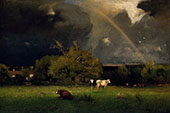 The Rainbow c1878 By George Inness