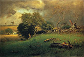 The Storm 1885 By George Inness