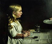 Florence Cope Saying Grace at Dinnertime By Charles West Cope