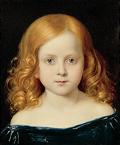 Portrait of The Artist's Daughter By Charles West Cope