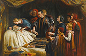 The Awakening of King Lear by Lhe Kiss of Cordelia 1850 By Charles West Cope