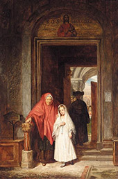 The First Communion 1838 By Charles West Cope