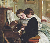 The Music Lesson 1863 By Charles West Cope