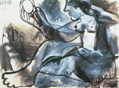 Seated Nude in the Mirror 1967 By Pablo Picasso