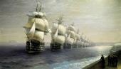 Parade of the Black Sea Fleet 1849 By Ivan Aivazovsky