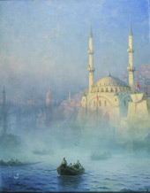 The Mosque at Constantinople By Ivan Aivazovsky