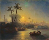 View of Cairo from the Nile 1872 By Ivan Aivazovsky