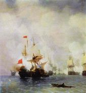 The Battle in the Chios Channel By Ivan Aivazovsky