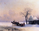 Winter Scene Little Russia By Ivan Aivazovsky